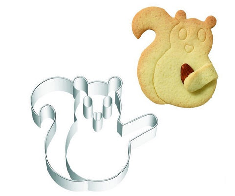 Squirrel Cuddle Cookie Cutter with Embossed Detail