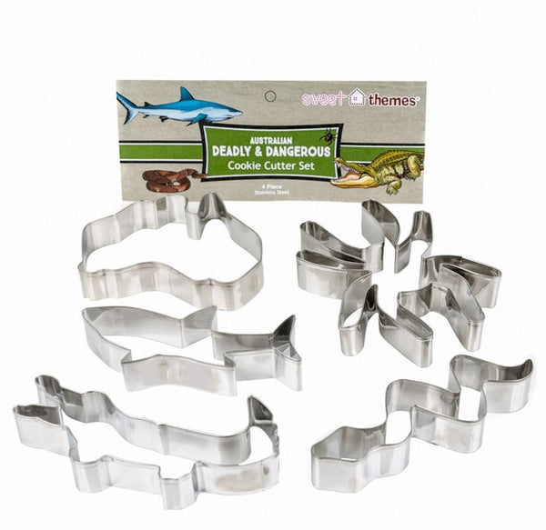 Australian Deadly and Dangerous Cookie Cutter Set 5 Pieces | Cookie Cutter Shop Australia