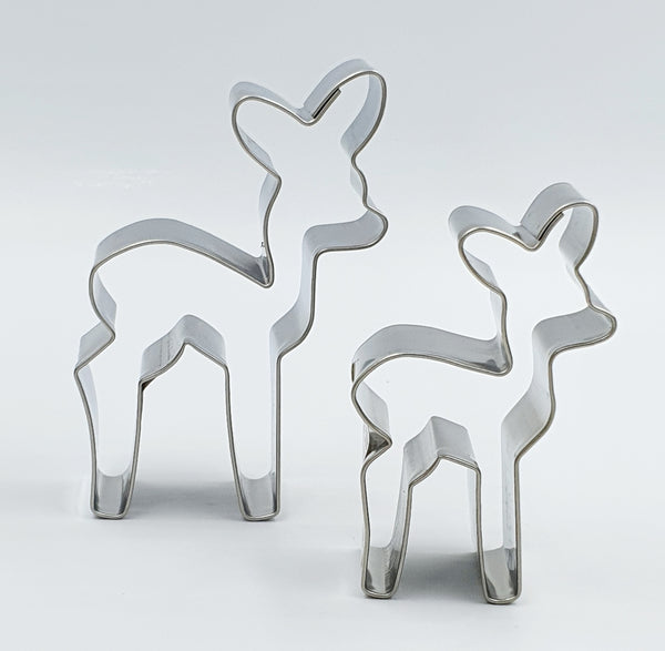 Mini Reindeer Cookie Cutter Set 2 Pieces | Cookie Cutter Shop Australia