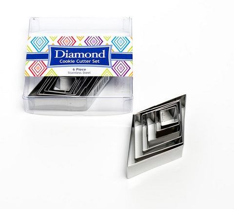 Diamonds Set of 6 Cookie Cutters | Cookie Cutter Shop Australia