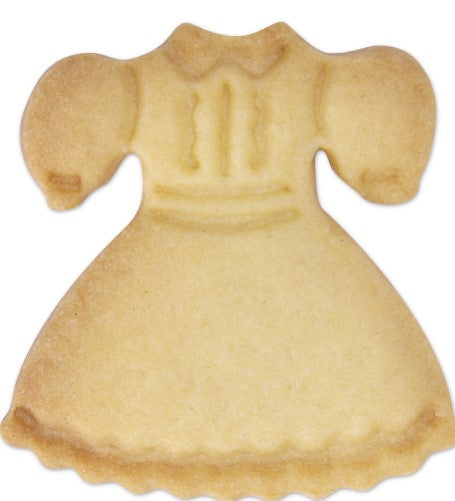 Dress Cookie Cutter Plastic Embossed 5cm