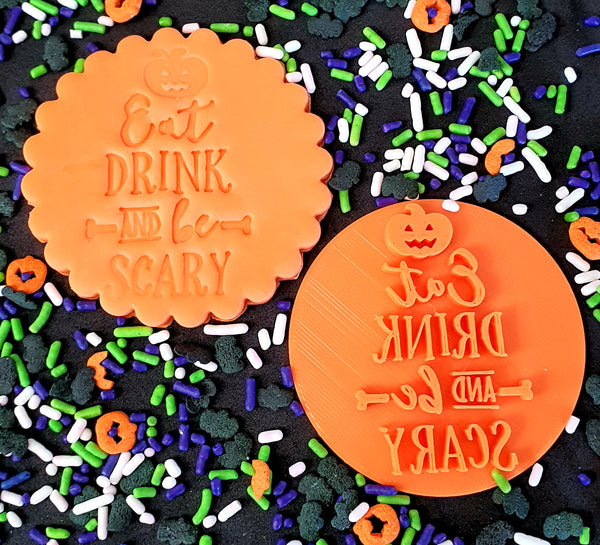 Halloween Fondant Embosser 'Eat Drink and be Scary' | Cookie Cutter Shop Australia