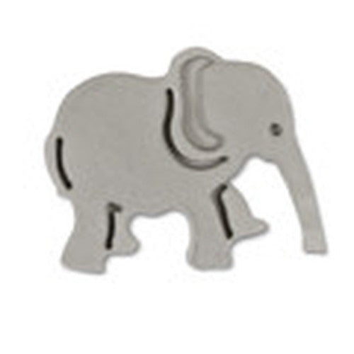 Elephant Plastic Embossed 5cm Cookie Cutter-Cookie Cutter Shop Australia