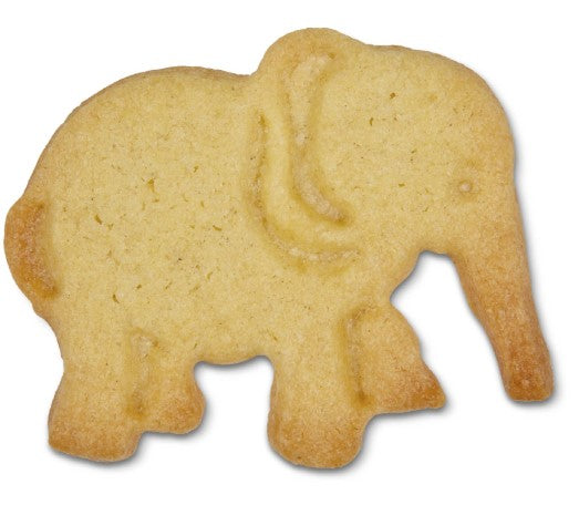 Elephant Plastic Embossed 5cm Cookie Cutter