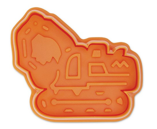 Excavator Cookie Cutter Stamp and Ejector
