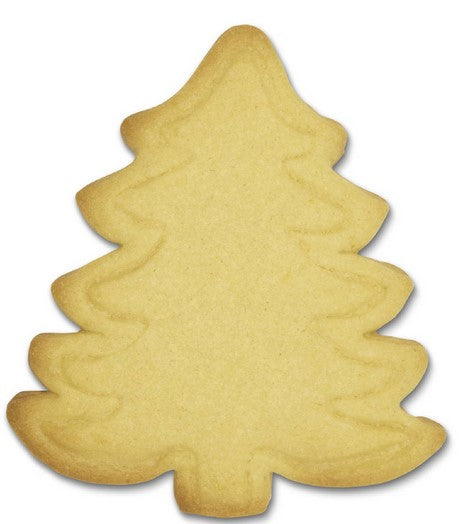Christmas Fir Tree Cookie Cutter with Embossed Detail 10cm