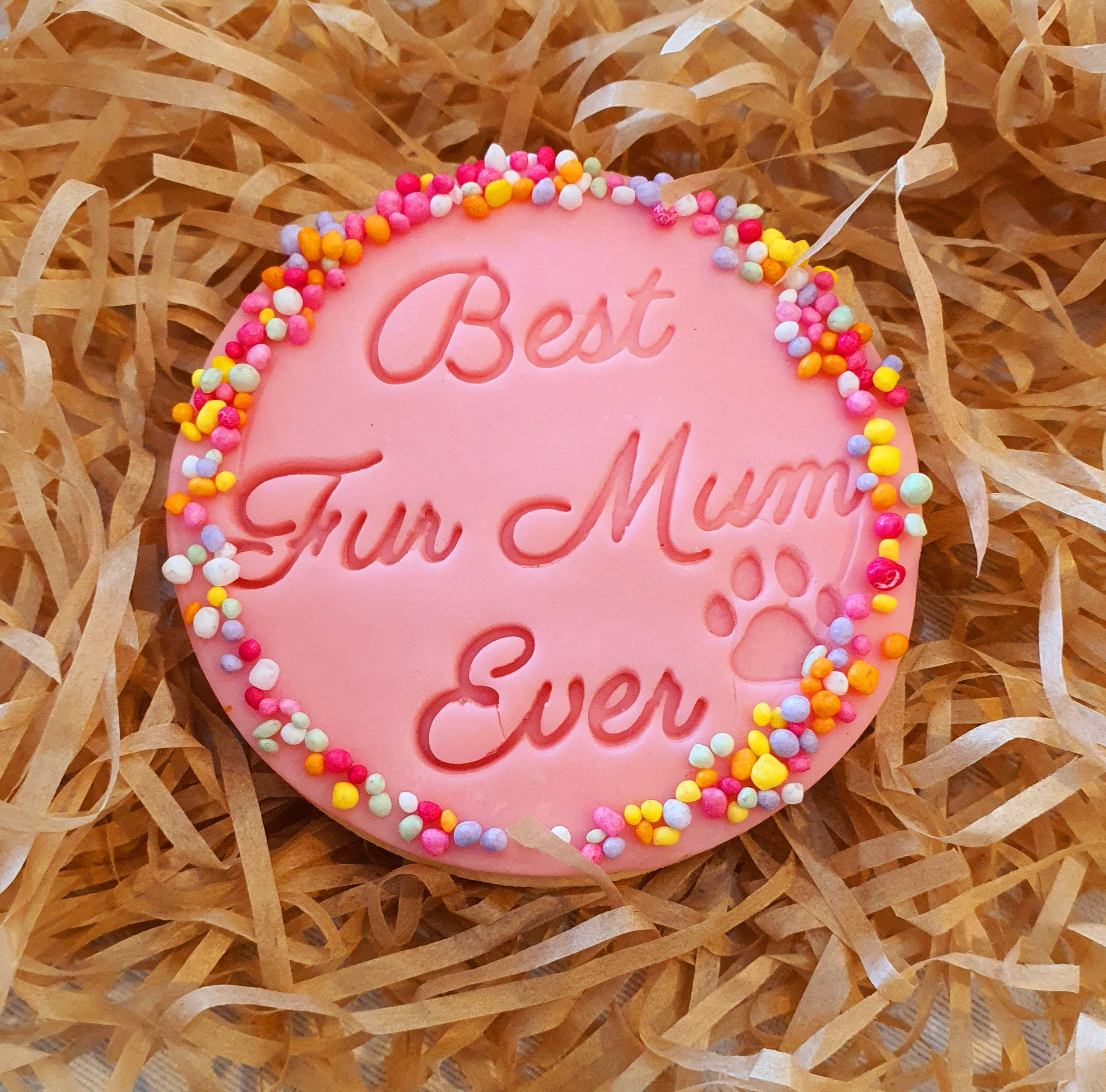 Fondant stamp 'Best Fur Mum Ever' | Cookie Cutter Shop Australia