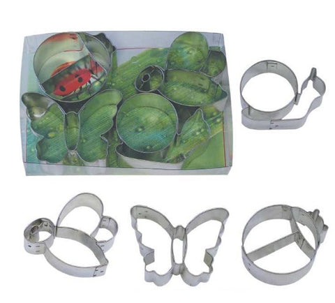 Garden Friends Cookie Cutter Set with Embossed Detail 4 pieces
