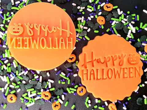 Happy Halloween Fondant Embosser Cookie Cutter Shop Australia