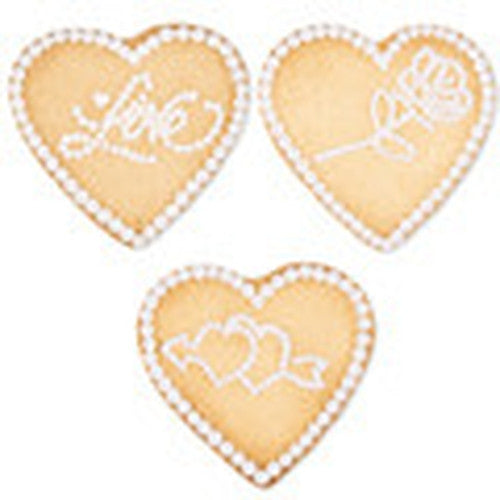 heart embossed ejector cookie cutter c1663 cookie