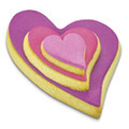 heart folk style set of 3 cookie cutters s0041 cookie