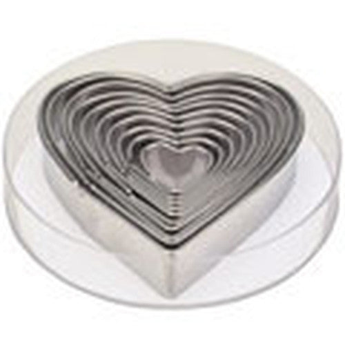 heart set of 10 cookie cutters s0060