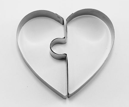 Heart Cookie Cutter Puzzle 2 pieces | Cookie Cutter Shop Australia