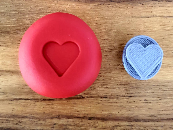 Heart Fondant Stamp Mini