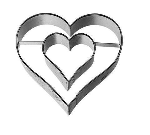Heart within a Heart Cookie Cutter 6cm