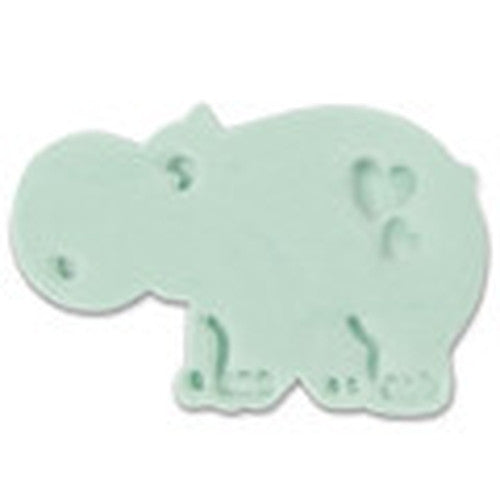 Hippopotamus Plastic Embossed 6cm Cookie Cutter-Cookie Cutter Shop Australia
