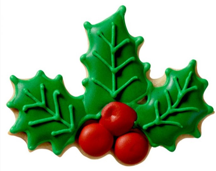 Holly Cookie Cutter with Internal Detail 7cm | Cookie Cutter shop Australia