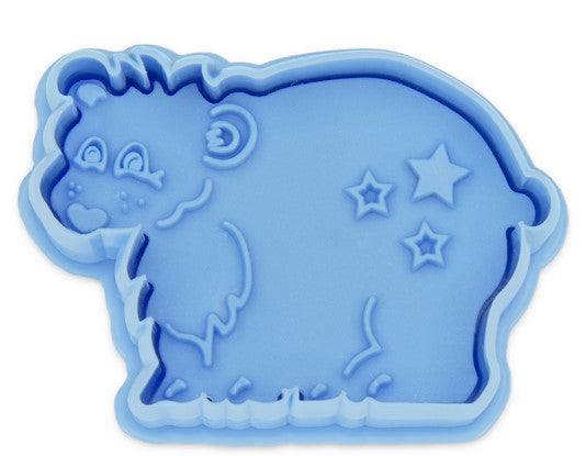 Bear Cookie Cutter with Stamp and Ejector 6cm