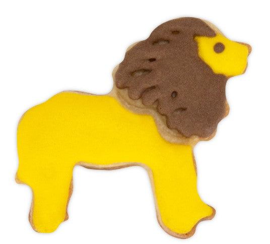 Lion Plastic Embossed 5cm Cookie Cutter