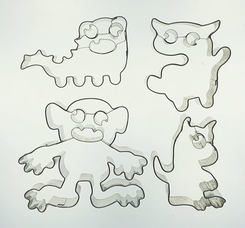 Monster Cookie Cutter Set with Embossed Detail 4 Pieces | Cookie Cutter Shop Australia