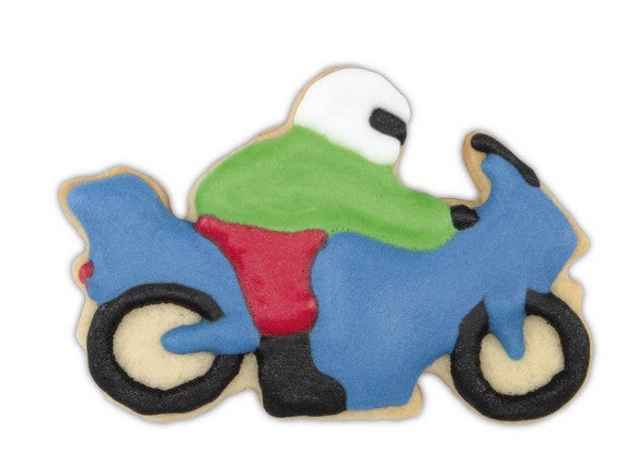 Motorbike Cookie Cutter with Racer