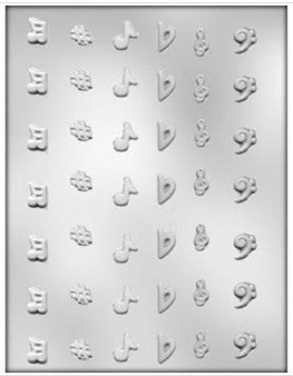 Music Note Mini Mould