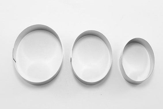 Oval Cookie Cutter Set 3 Pieces | Cookie Cutter Shop Australia