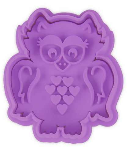 Owl Cookie Cutter Stamp and Ejector