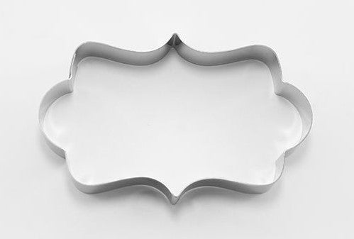 Rectangle Plaque Cookie Cutter 10.5 cm