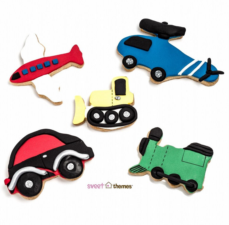 Transport Cookie Cutter Set 5 Pieces