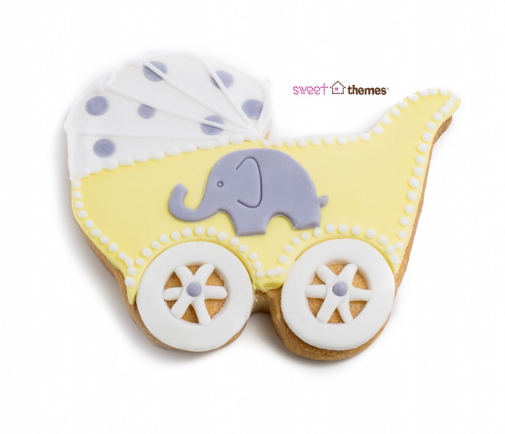 Baby Pram Cookie Cutter 10cm | Cookie Cutter Shop Australia