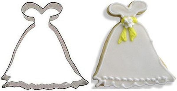 Princess Gown 10cm Cookie Cutter-Cookie Cutter Shop Australia