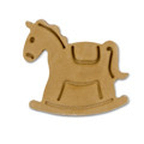 Rocking Horse Plastic Embossed 5cm Cookie Cutter-Cookie Cutter Shop Australia