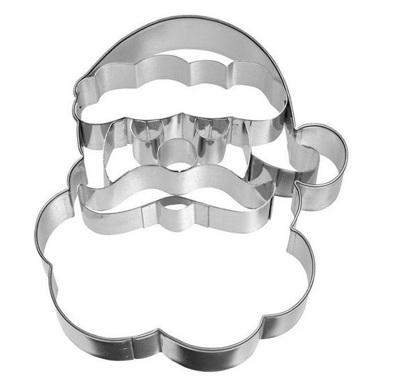 Santa Face Cookie Cutter with Embossed Detail 11cm