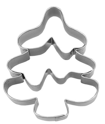 Christmas Tree Cookie Cutter with Embossed Detail 7.5cm | Cookie Cutter Shop Australia