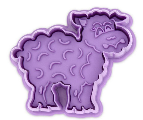 Sheep Cookie Cutter with Stamp and Ejector 6cm