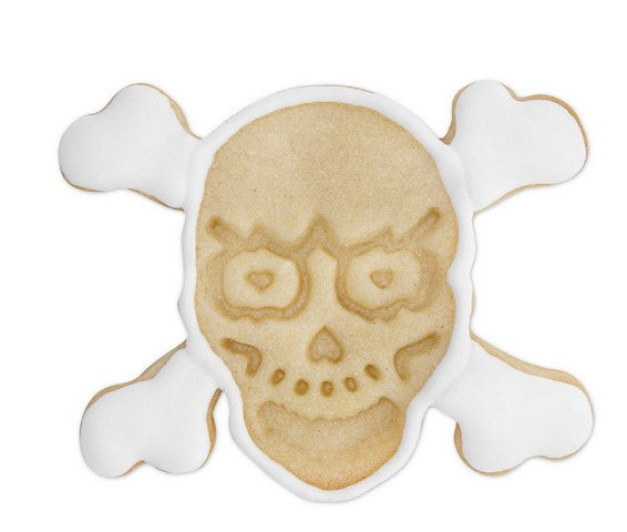Skull and Crossbones Cookie Cutter Stamp and Ejector | Cookie Cutter Shop Australia