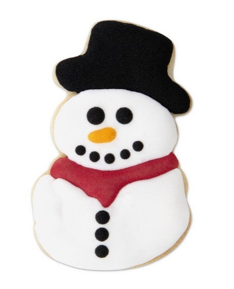 Snowman Cookie Cutter with Internal detail 7.5 cm | Cookie Cutter shop Australia