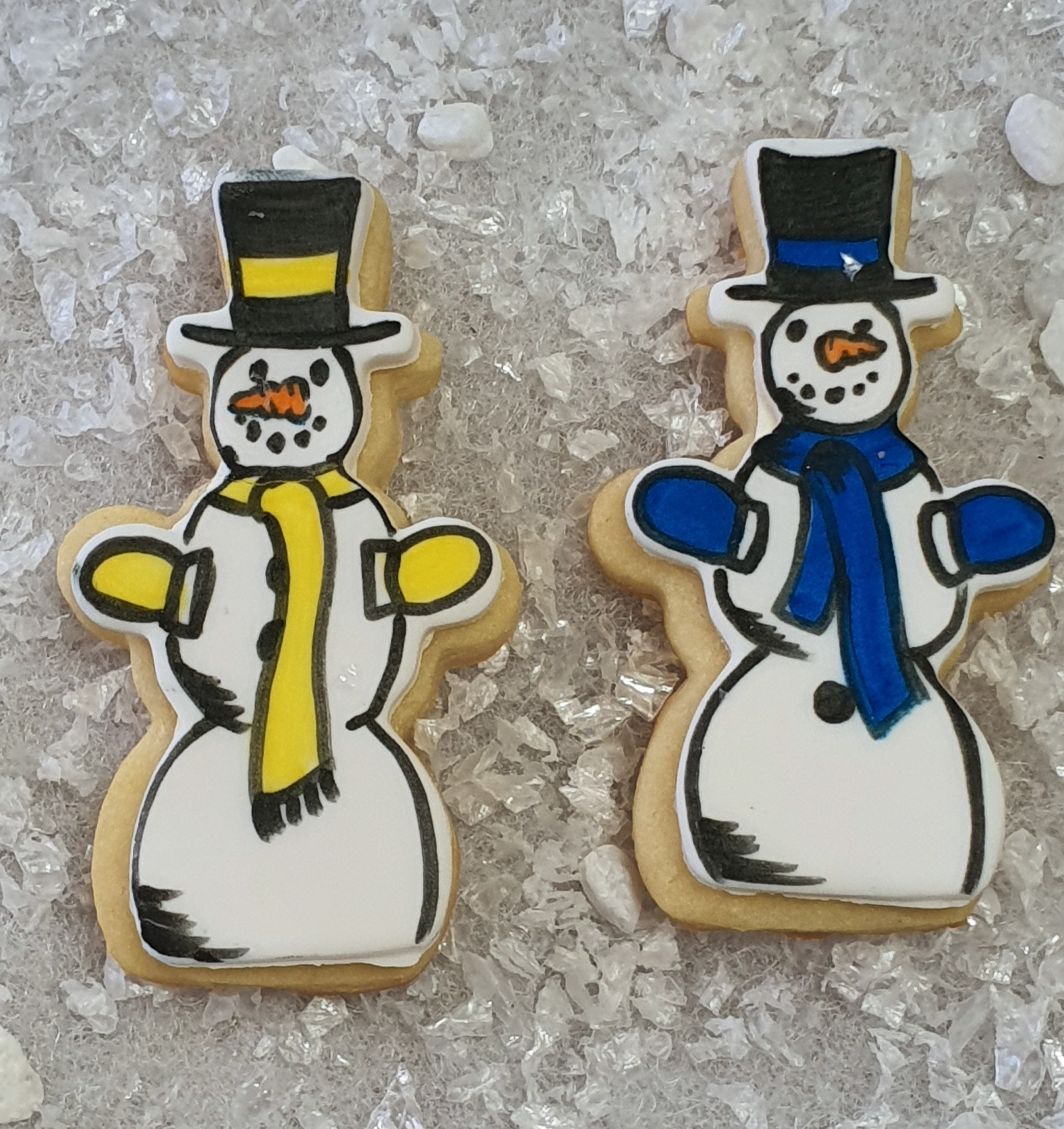 Snowman with Hat 7cm | Cookie Cutter Shop Australia