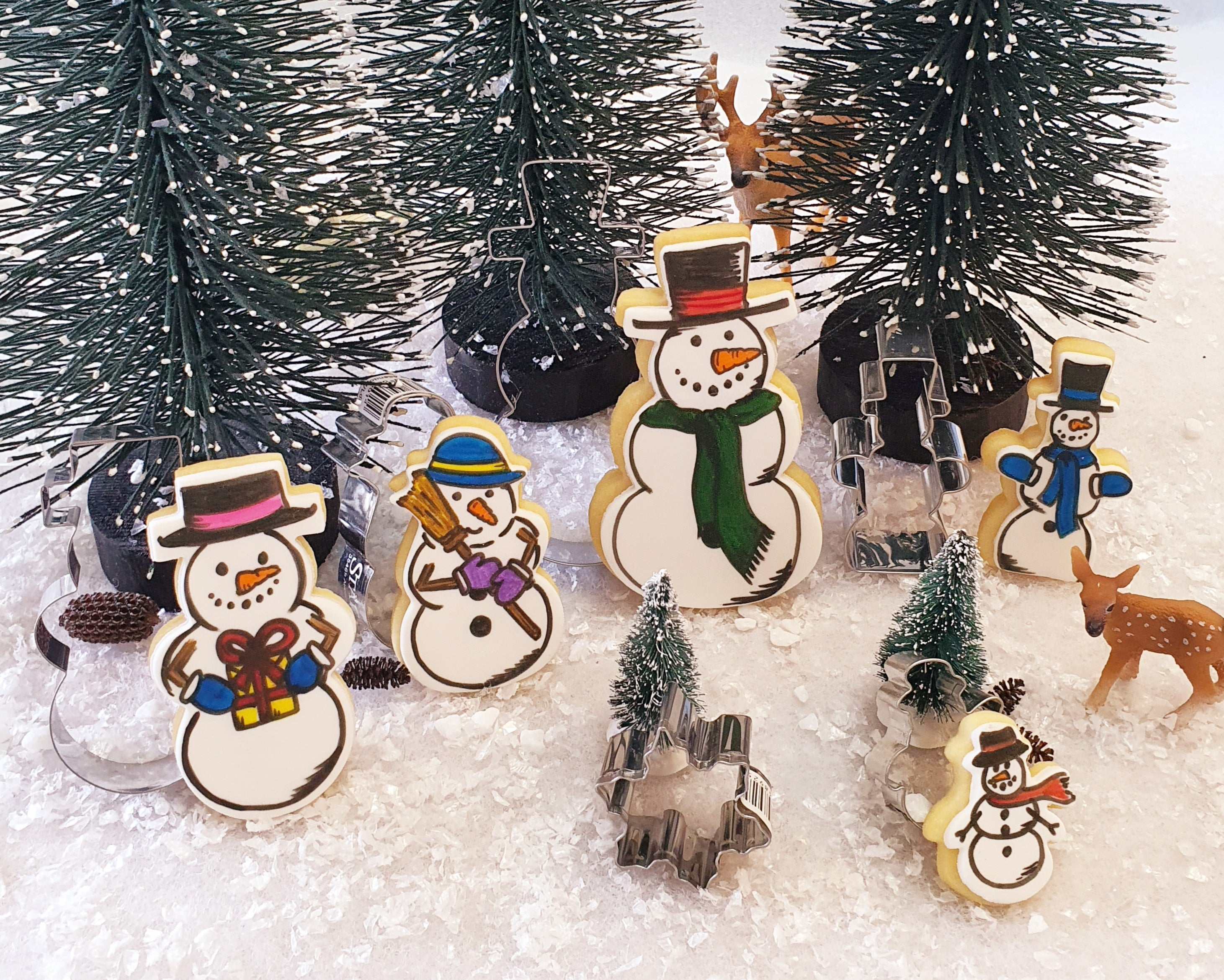 Snowman Cookie Cutter Set 6 pieces