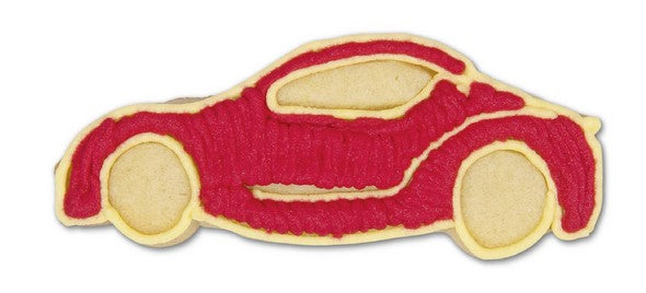 Sports Car with Embossed Detail Cookie Cutter | Cookie Cutter Shop Australia