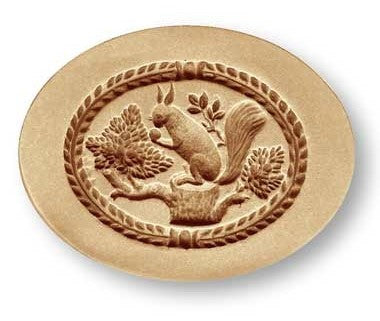 Springerle Mould 'Squirrel in an Oval' 77mm | Cookie Cutter Shop Australia