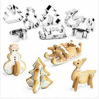 Standing Christmas set 8 pieces