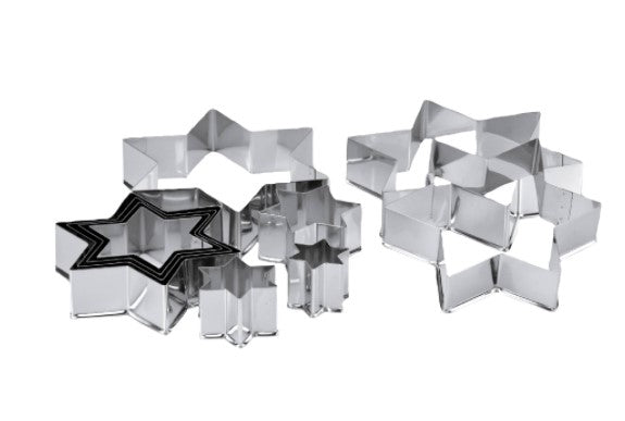 Star Set of 10 Cookie Cutters 3 to12cm | Cookie Cutter Shop Australia