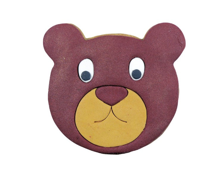 Teddy Bear Face Cookie Cutter with Internal Detail 10.5cm | Cookie Cutter Shop Australia