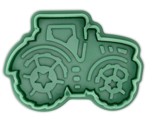 Tractor Cookie Cutter Stamp with Ejector 6.5cm | Cookie Cutter Shop Australia