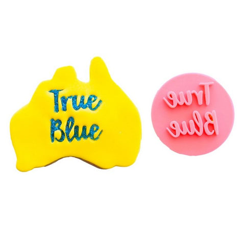 Australia Day Fondant Stamp 'True Blue' | Cookie Cutter Shop Australia