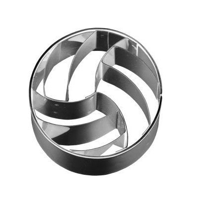 Volleyball Cookie Cutter 4.5cm with Internal Detail
