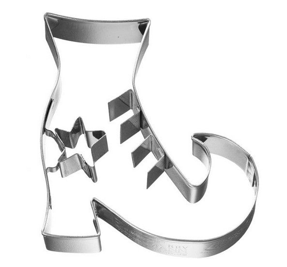 Witch's Boot Cookie Cutter with Embossed Detail 6.5cm | Cookie Cutter Shop Australia