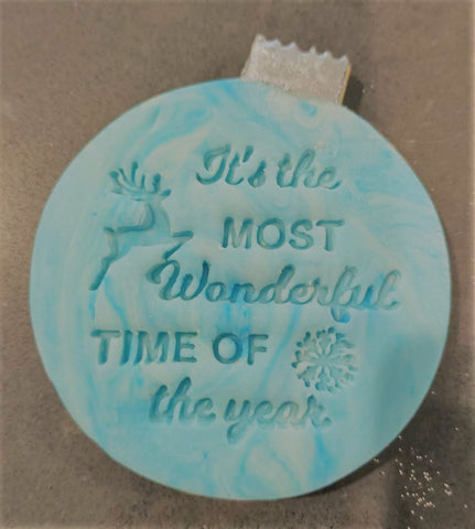 Christmas Fondant Embosser 'It's the Most Wonderful Time of the Year' | Cookie Cutter Shop Australia